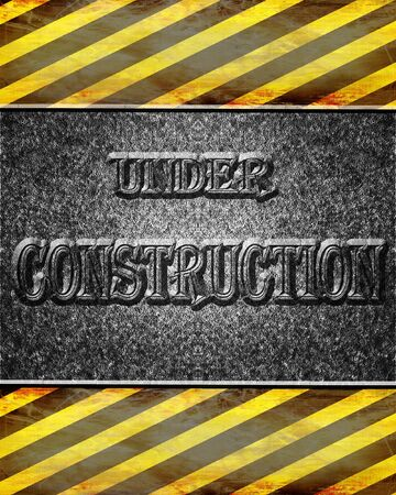pave: Asphalt background texture with under construction sign