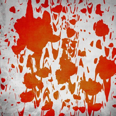 Blood splatter on old wall Stock Photo - 2990954