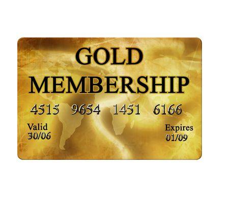 membres: Carte de membre en or sur fond blanc