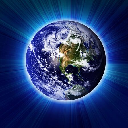 Earth in dark outer space Stock Photo - 2990870