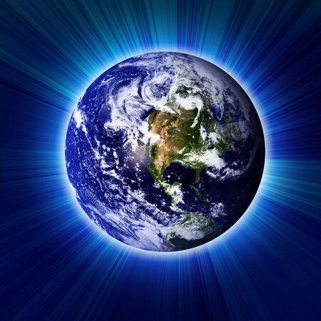 earthlike: Earth in dark outer space