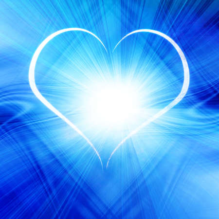 soulmate: Blue heart Stock Photo