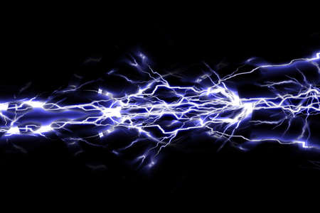 electrocute: Electrical sparks on a black background
