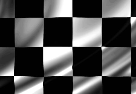 fastest: checkered flag with some folds in it Stock Photo