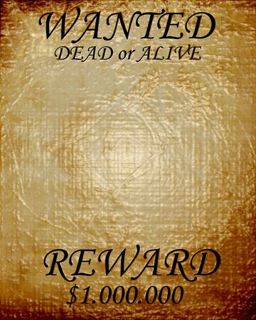 page long: old wanted texture dead or alive Stock Photo