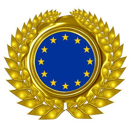 EU flag in a wreath photo