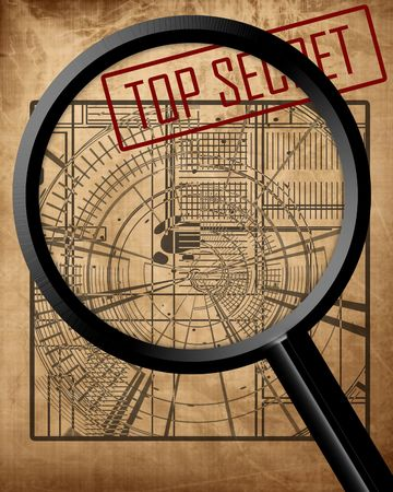 old top secret blueprint: espionage photo
