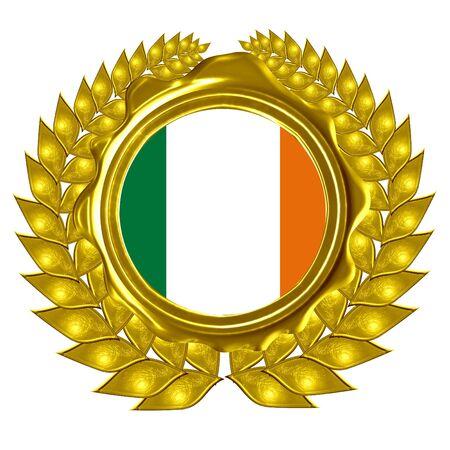 irish flag in a wreath Stock Photo - 3095832