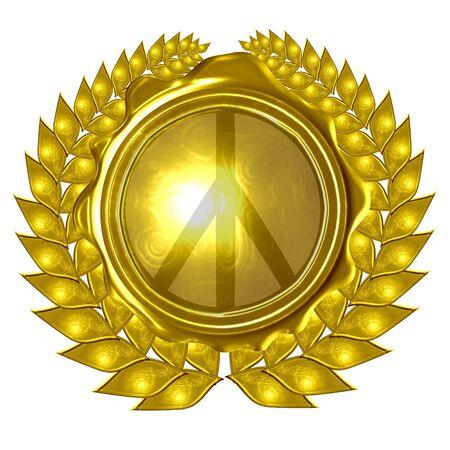 peace symbol in a wreath photo