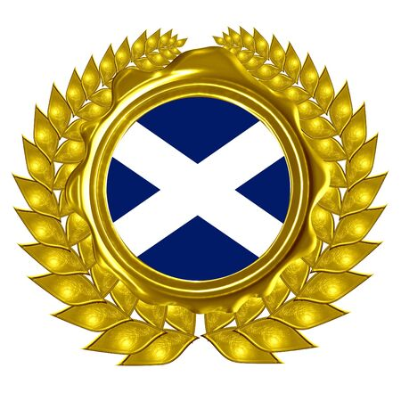 scottish flag: bandiera scozzese in una corona