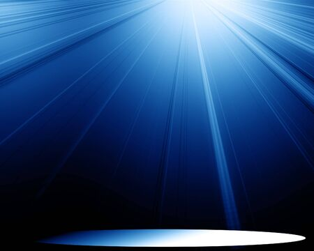 famous actor: spotlight on a blue background