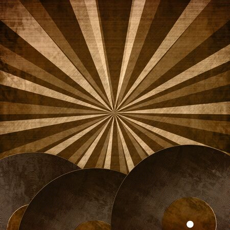 Old vintage vinyl record plate on a grunge background Stock Photo - 3131217