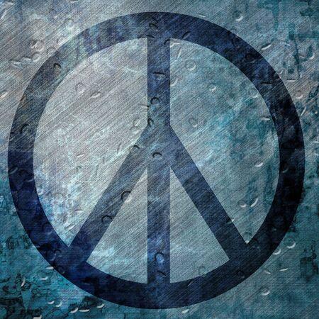 Grunge background with flowerpower symbol Stock Photo - 3131227