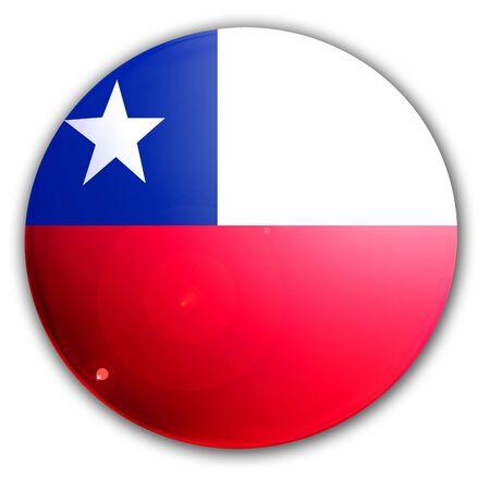 bandera chilena: bandera chilena sobre un fondo blanco s�lido