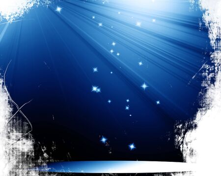 famous actor: Stage with spotlight and sparkles Stock Photo