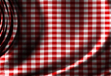 Red picnic texture with some soft folds and shades Stock Photo - 3195822