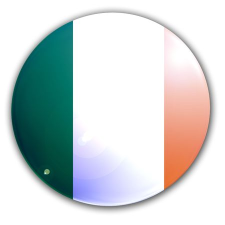 irish flag on a solid white background Stock Photo - 3195963