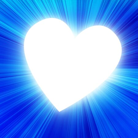 blue heart in a blue background