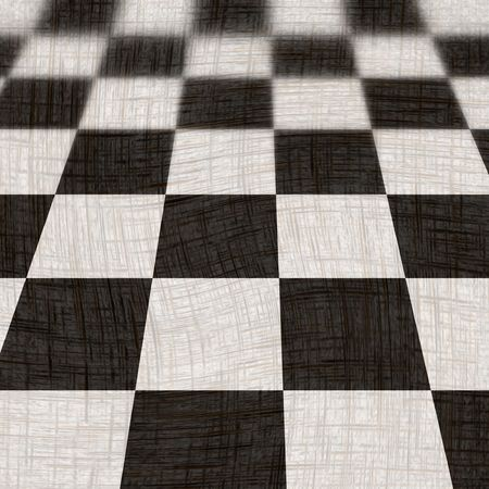 chequer: chequered floor in black and white Stock Photo