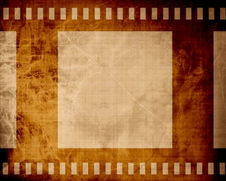 emulsion: grunge film strip with some stains on it Stock Photo
