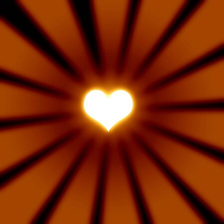 Abstract rays with heart photo