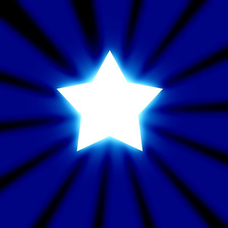 Abstract rays with star Stock Photo - 3201764