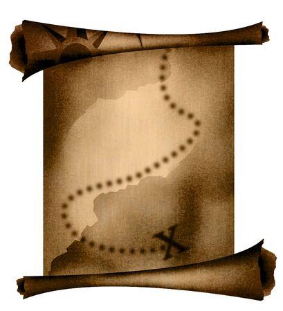 Старая карта сокровищ Фото со стока