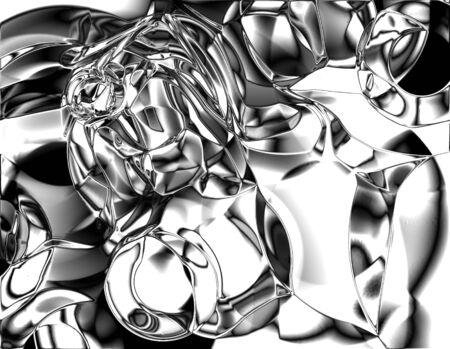 liquefy: chrome metallic background with some soft reflections Stock Photo