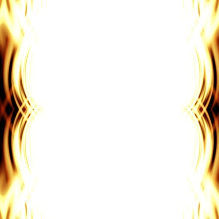 implode: Abstract yellow flames forming a border