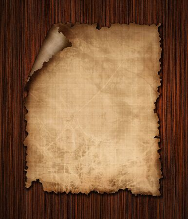 books on a wooden surface: old paper texture on a wooden background