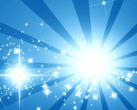 abstract rays on a blue background Stock Photo - 3201349