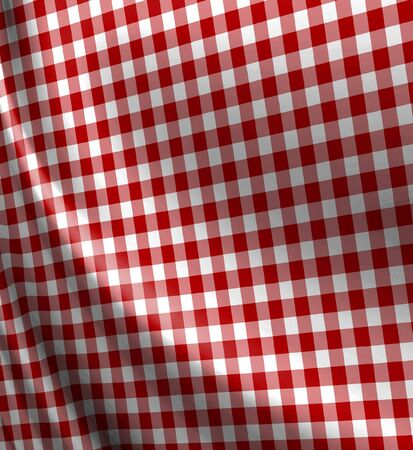 table surface: Red picnic texture with soft shades