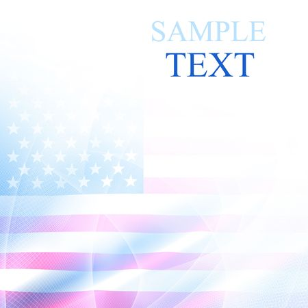 swirling: american flag waving in the wind with room for text