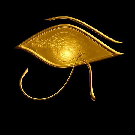 ojo de horus: egipcios s�mbolo: el ojo de horus  Foto de archivo