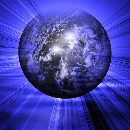 earthlike: Floating earth Stock Photo