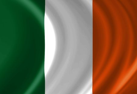 Irish flag waving in the wind Stock Photo - 3201292