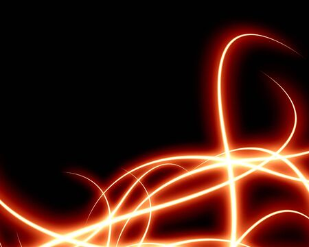 curving: abstract red lines on a solid black background