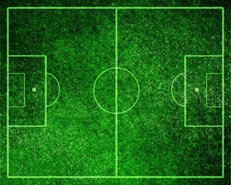 Soccer field with white lines on grass Stock Photo - 3202006