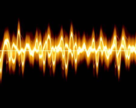 Visual representation of a soundwave photo