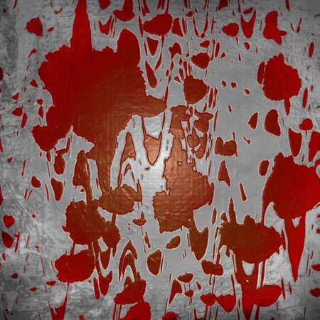 Blood splatter on old wall Stock Photo - 3207506