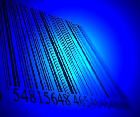 Barcode fading into the distance Stock Photo - 3207080