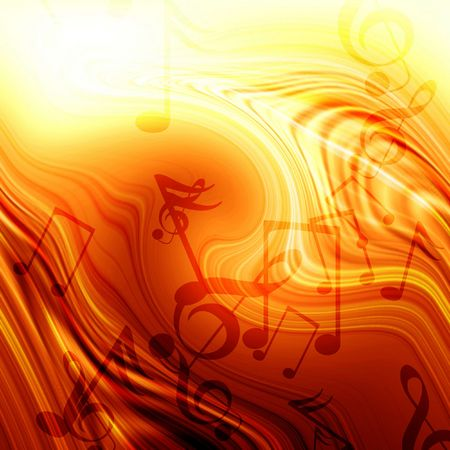 Abstract flowing fire background with music Stock Photo - 3207107