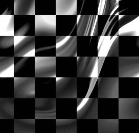 fastest: racing flag with some folds in it Stock Photo