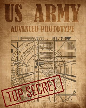 Old top secret US army design photo