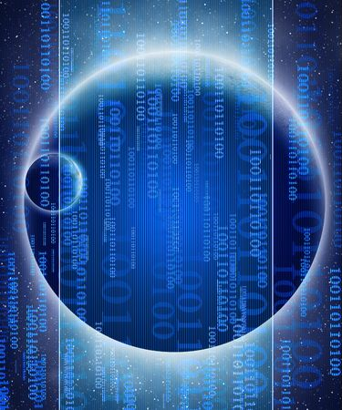 digital world on a dark blue background Stock Photo - 3207449