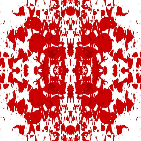bloodied: Blood splatter on a solid white wall Stock Photo