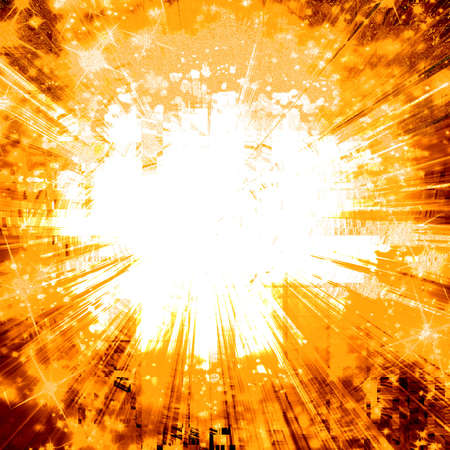 implode: Abstract explosion Stock Photo