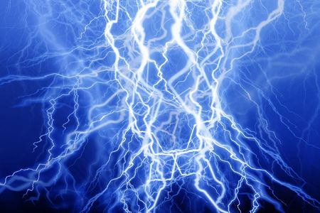 volts: Blue lightning on a black background