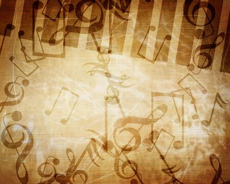 added: Vintage paper texture with added music notes