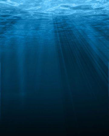 shining through: luce del sole splende attraverso la superficie di acqua Archivio Fotografico